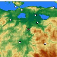 Nearby Forecast Locations - Сусурлук - карта