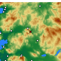 Nearby Forecast Locations - Kırkağaç - карта