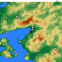 Nearby Forecast Locations - Бурхание - карта