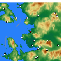 Nearby Forecast Locations - Алиага - карта