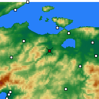 Nearby Forecast Locations - Гёнен - карта