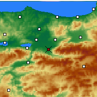 Nearby Forecast Locations - Акъязы - карта