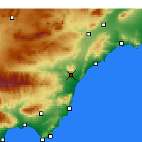 Nearby Forecast Locations - Villaricos - карта