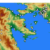Nearby Forecast Locations - Archea Epidavros - карта