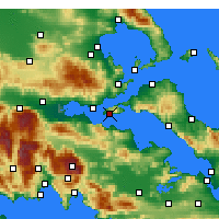 Nearby Forecast Locations - Aghios Georgios - карта