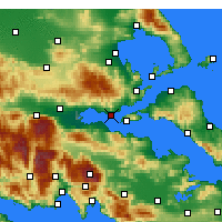 Nearby Forecast Locations - Paralia Rachon - карта