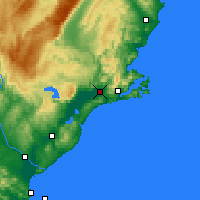 Nearby Forecast Locations - Mosgiel - карта
