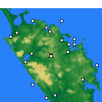 Nearby Forecast Locations - Kaikohe - карта