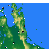 Nearby Forecast Locations - Whangamata - карта