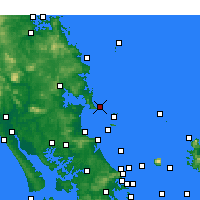 Nearby Forecast Locations - Bream Head - карта