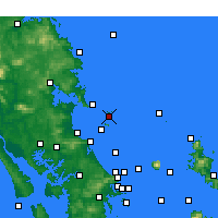 Nearby Forecast Locations - Хен-энд-Чикенс - карта