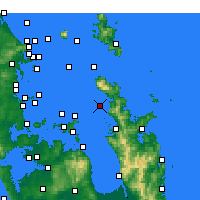 Nearby Forecast Locations - Motukawao Island - карта