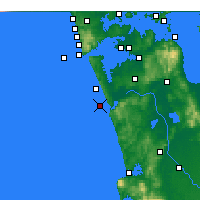 Nearby Forecast Locations - Port Waikato - карта