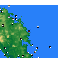 Nearby Forecast Locations - Sandy Bay - карта