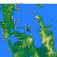 Nearby Forecast Locations - Waiheke Channel - карта