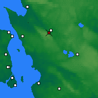 Nearby Forecast Locations - Ljungbyhed - карта