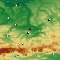 Nearby Forecast Locations - Горна-Оряховица - карта
