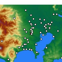 Nearby Forecast Locations - Тёфу - карта