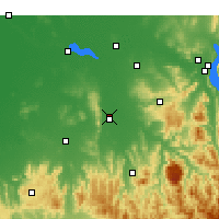 Nearby Forecast Locations - Wangaratta - карта