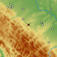 Nearby Forecast Locations - Долина - карта