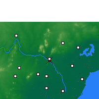 Nearby Forecast Locations - Виджаявада - карта