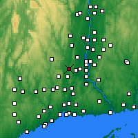 Nearby Forecast Locations - Plainville - карта