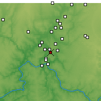 Nearby Forecast Locations - Blue Ash - карта