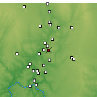 Nearby Forecast Locations - Springboro - карта