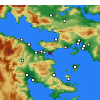 Nearby Forecast Locations - Agioi Theodoroi - карта