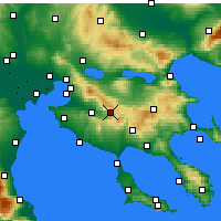 Nearby Forecast Locations - Anthemountas - карта