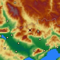 Nearby Forecast Locations - Kato Nevrokopi - карта