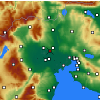 Nearby Forecast Locations - Pella - карта