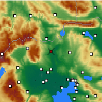 Nearby Forecast Locations - Polykastro - карта