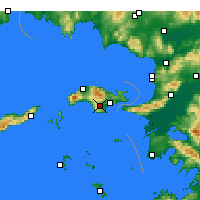 Nearby Forecast Locations - Pythagoreio - карта
