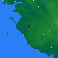 Nearby Forecast Locations - Les Herbiers - карта