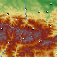 Nearby Forecast Locations - Plateau de Beille - карта