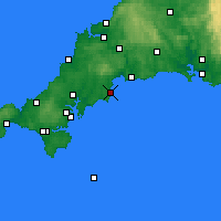 Nearby Forecast Locations - Mevagissey - карта