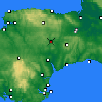 Nearby Forecast Locations - Tiverton - карта