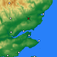 Nearby Forecast Locations - Форфар - карта