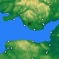 Nearby Forecast Locations - Bridgend - карта