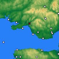 Nearby Forecast Locations - Нит-Порт-Толбот - карта