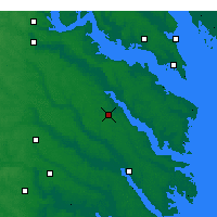 Nearby Forecast Locations - Tappahannock - карта
