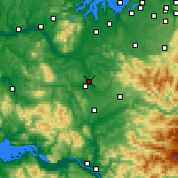 Nearby Forecast Locations - Chehalis - карта