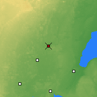 Nearby Forecast Locations - Shawano - карта