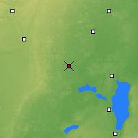 Nearby Forecast Locations - Waupaca - карта