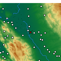 Nearby Forecast Locations - Manteca - карта