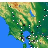 Nearby Forecast Locations - Sonoma - карта