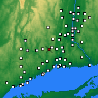 Nearby Forecast Locations - Naugatuck - карта
