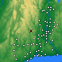 Nearby Forecast Locations - Torrington - карта