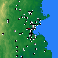 Nearby Forecast Locations - Белмонт - карта